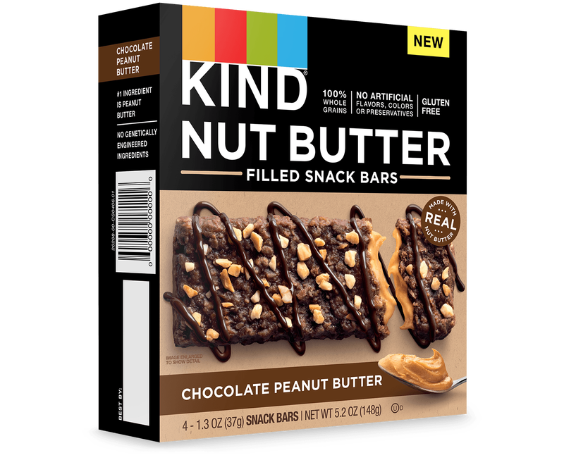 Chocolate Peanut Butter Nut Butter Filled Snack Bars
