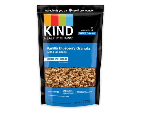 Vanilla Blueberry Granola with Flax Seeds