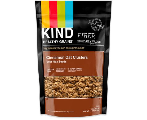 cinnamon oat clusters with flax seeds