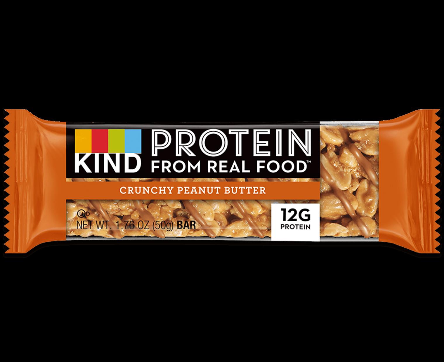 Crunchy Peanut Butter Protein Bars Kind Snacks Bars