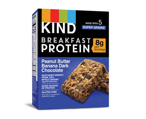 Peanut Butter Banana Dark Chocolate Protein Breakfast Bars