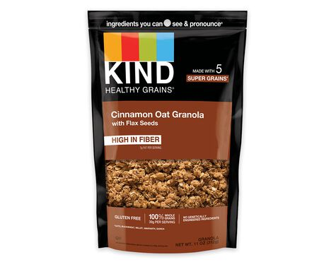 Cinnamon Oat Granola with Flax Seeds