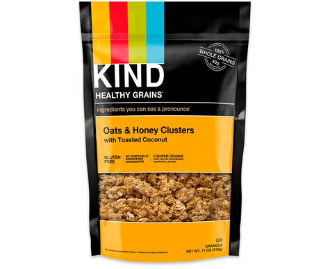 oats & honey clusters with toasted coconut