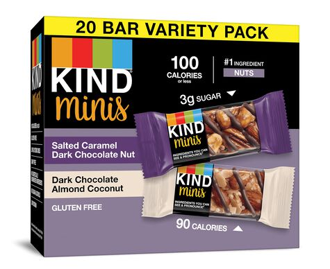 Salted Caramel Dark Chocolate Nut + Dark Chocolate Almond Coconut Minis