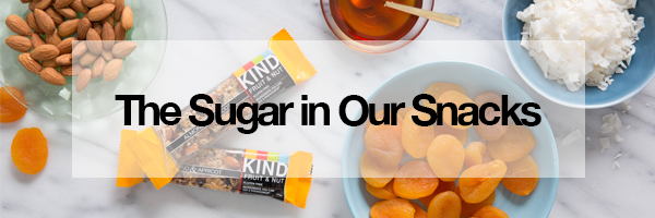 The sugar in our snacks